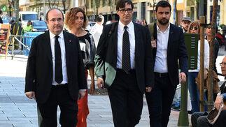Imágenes de la despedida a la ex ministra Carme Chacón en Ferraz.