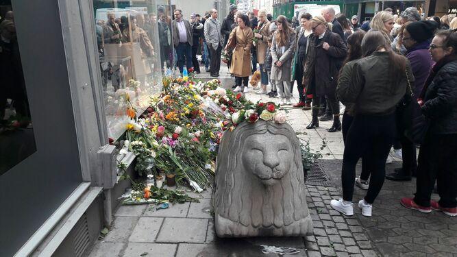 El jerezano ha fotografiado parte del escenario donde se llevó a cabo el atentado en estos días.