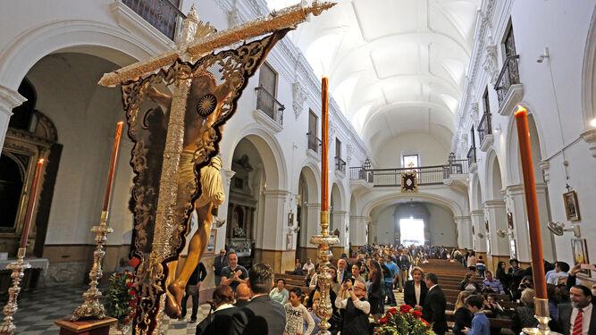 El Cristo  de la Expiración , en su 'exilio' del Convento de San Francisco.