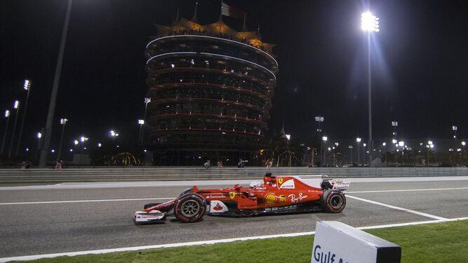 Vettel durante la carrera.