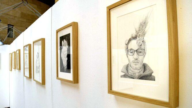 Algunas de las obras que se exponen en la Sala Paúl en la muestra 'PsicoNatura'.