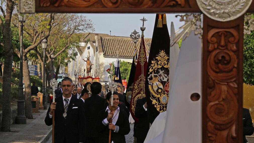 La procesión salió de la Catedral al filo de las diez  de la mañana para realizar un amplio recorrido por el centro