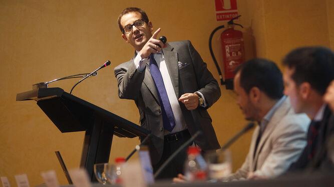 Daniel del Pozo, director de Operaciones de Idealista Data, en un momento de su intervención en las jornadas.