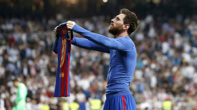 Messi celebra el definitivo 2-3.
