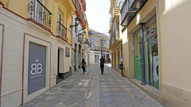Otras calles peatonales, como Algarve, presentan una imagen muy distinta.