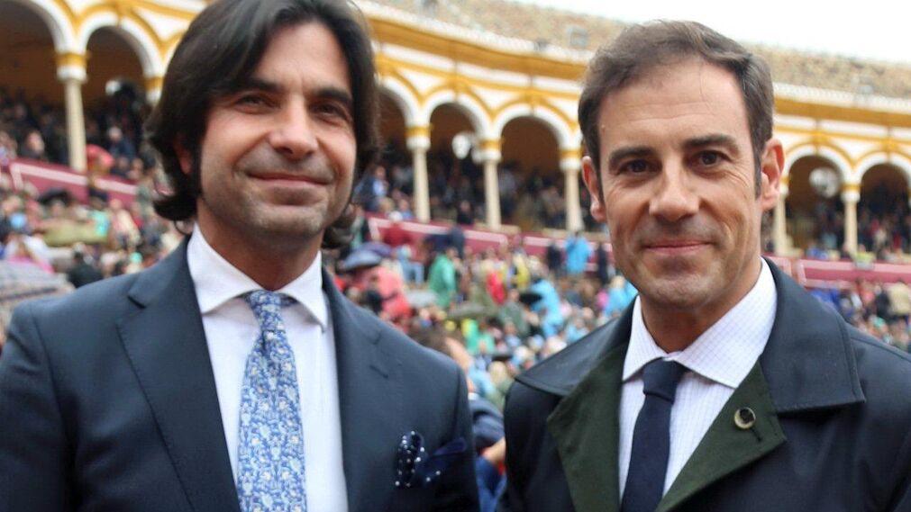 """Javier Conde y Miguel Báez """"Litri""""."""