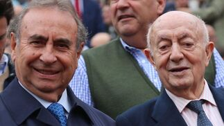 El ganadero Pedro Trapote y Lucio.