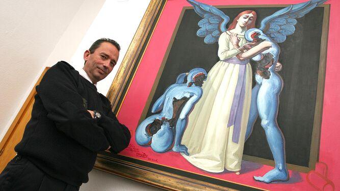 Nicolás Meca Rodríguez de Rivera, en una imagen tomada cuando era comisario jefe en Vélez-Málaga.