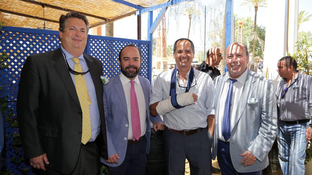 Alfonso Domecq, Bruno de la Quintana, Juan Alfonso Domecq y Benjamín Sánchez.
