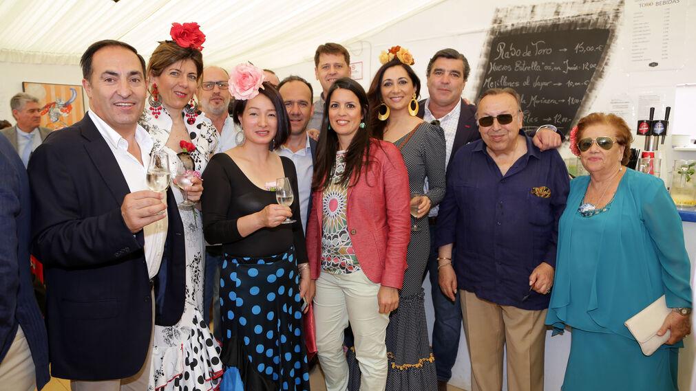 Juan Cruz Castillejo, Sandra Jiménez, Hailei, Rocío Vázquez, David Baena, Lola Díaz y Jaime Estévez.