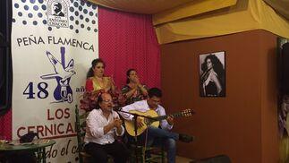 La Peña Los Cernícalos acoge distintas actuaciones estos días. Ayer, al cante, José Méndez; Juan M. Moneo a la guitarra; y al baile, Miriam y Carmen Ledesma.