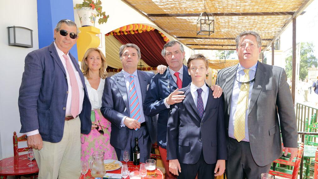 José María Guerrero Pemán, Marta Muñoz Rojas, Emilio Valero, Antonio de León Bohórquez y Alfonso Domecq.