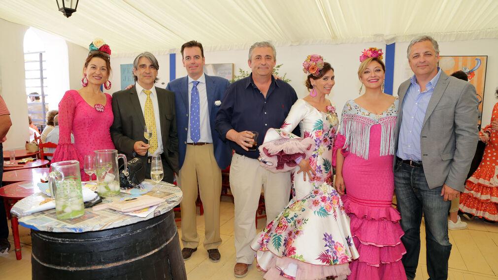 Susana Martínez, José María Portela, Luis de Diego, Ángel González, Rocío Chamorro, Mercedes Ordoñez y Miguel Ristori