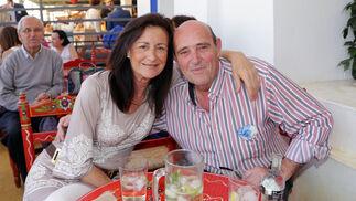 Los hermanos García en la caseta de Diario de Jerez