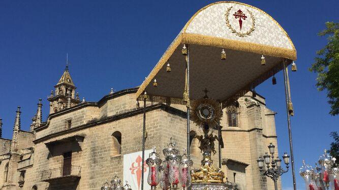 Procesión del Corpus en Santiago y La Sed