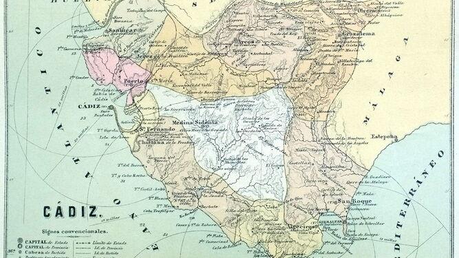 Detalle de uno de los mapas que ilustra la obra del historiador.