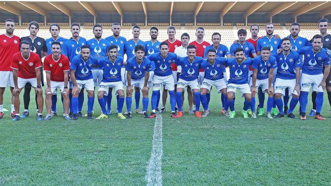 Plantilla del Xerez Deportivo FC 17/18 el día de su presentación en Chapín.