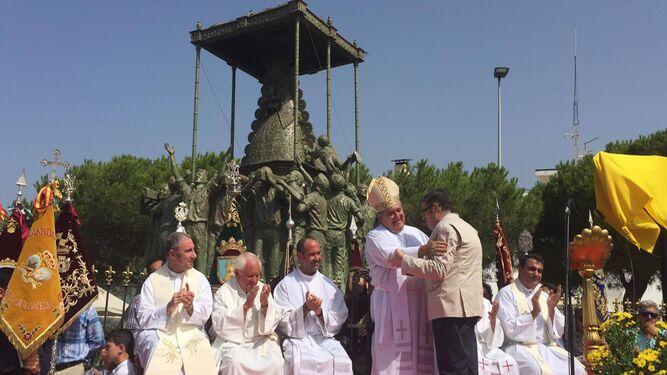 Gran Espectáculo Para El Monumento Del Rocío En Sanlúcar