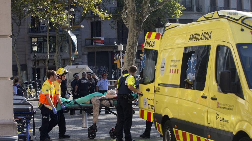 Imágenes del atropello múltiple en las Ramblas de Barcelona