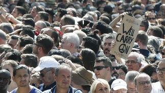 Minuto de silencio en Barcelona