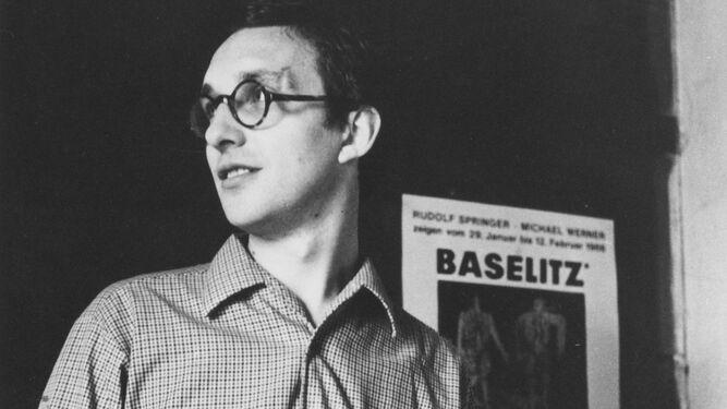 Baselitz en su estudio en 1966.