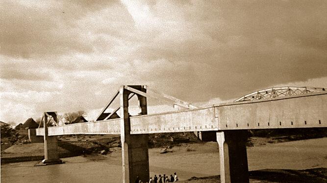 Acueducto de Tempul. Detalle del tramo principal