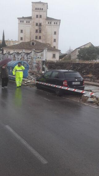 Los efectos del temporal de lluvia en Jerez
