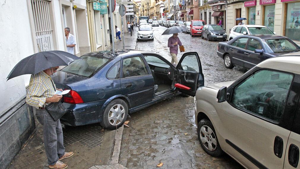 Los efectos del temporal de lluviaen Jerez