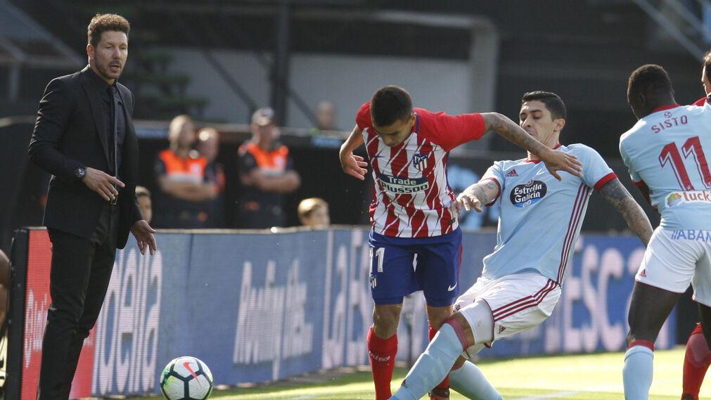 Las imágenes del Celta-Atlético
