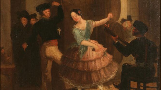 Juan Rodríguez y Jiménez 'El Panadero'. 'El baile del farol', ca. 1925. Museo del Romanticismo, Madrid. Nº Inv. CE0079.