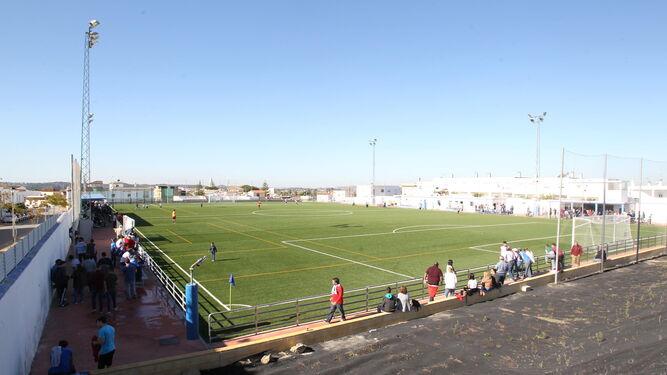 Aspecto del campo municipal de Torrecera, donde el Xerez CD jugará sus partidos como local hasta final de temporada.