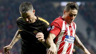 las imágenes del Atlético de Madrid-Roma