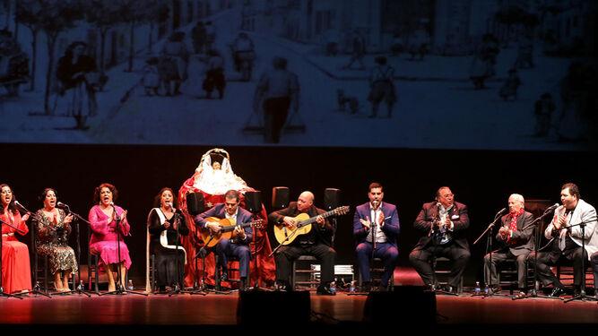 Un momento del espectáculo 'La Bulería en Navidad', organizada por la Federación Local de Peñas Flamencas en el Villamarta.