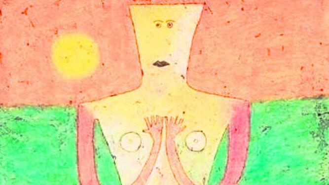 Detalle de 'El origen de la poesía (1957) de Victor Bauner.