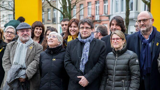 Puigdemont en un acto en Bruselas.