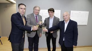 Rafael Navas, Francisco Camas, Agustín Castilla-Ávila y Bernardo Palomo.
