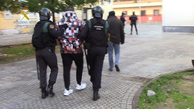 Imagen de una de las detenciones.