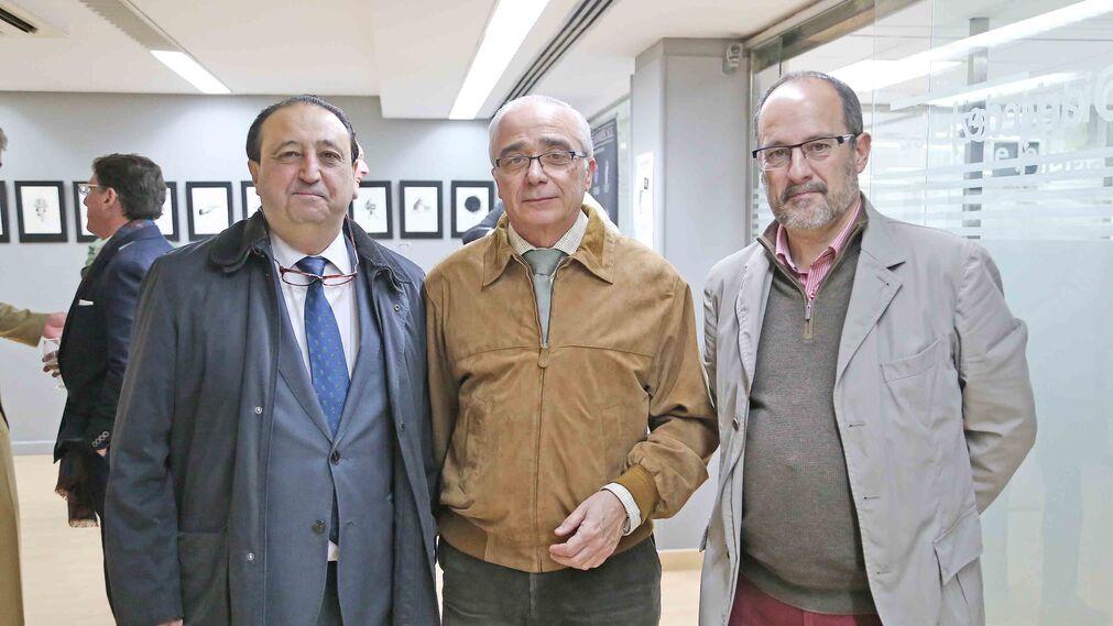 Francisco Zurita, Alfonso Muñoz y Francisco Rodríguez.