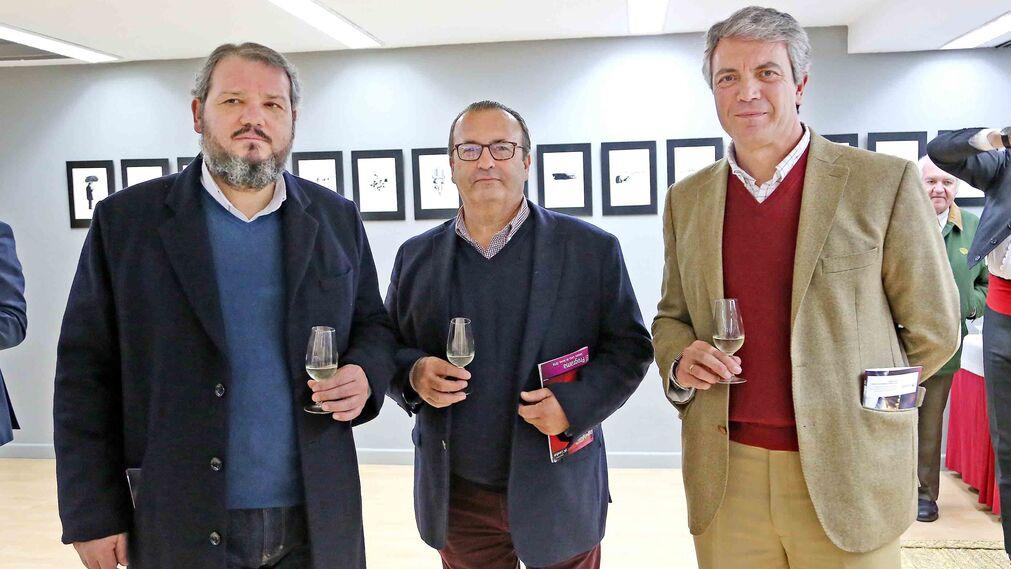 Pedro Incierte junto a Manuel Roldán y Álvaro de la Calle.