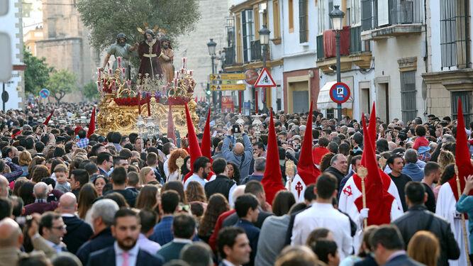 Nuestro Padre Jesús del Prendimiento, a su paso por calle Ancha.
