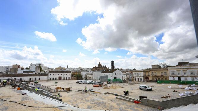 Aspecto que presenta actualmente el solar de la plaza Belén, con el auditorio en primer plano.