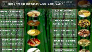 Se celebra este fin de semana. Participan 12 bares que ofrecen platos realizados con los espárragos verdes de la localidad.