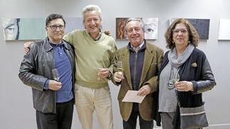 Pedro Ledo, Javier Bononato, José Manuel Morales y Mercedes Solís.