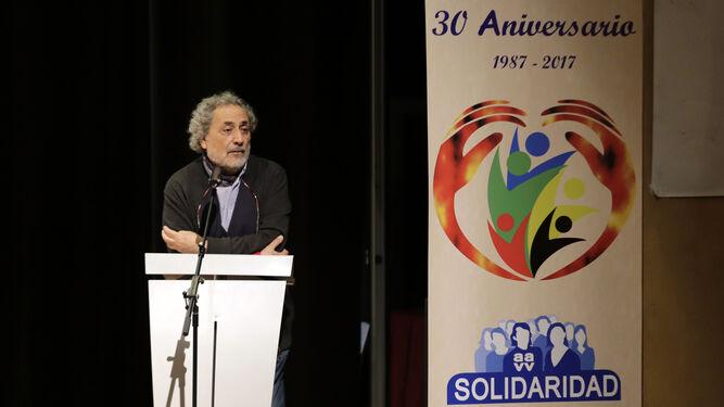 José Chamizo, durante su intervención en el acto.