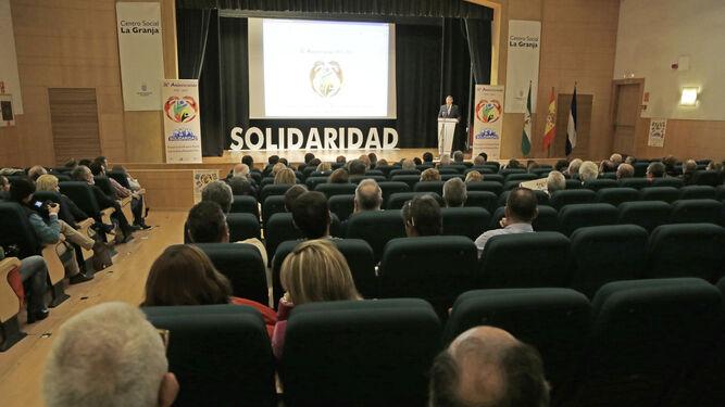 Un momento de la celebración en el salón del centro social de La Granja.