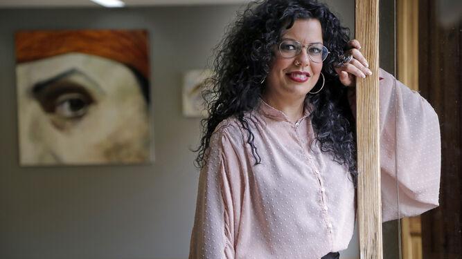 Luisa Reyes, finalista de la primera edición de 'Maestros de la Costura', en la sala de ArteaDiario.