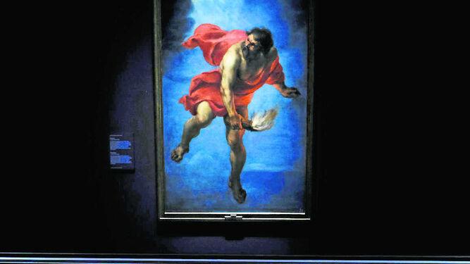 'Prometeo' de Jan Cossiers siguiendo el boceto (abajo) pintado en 1636 por Rubens.