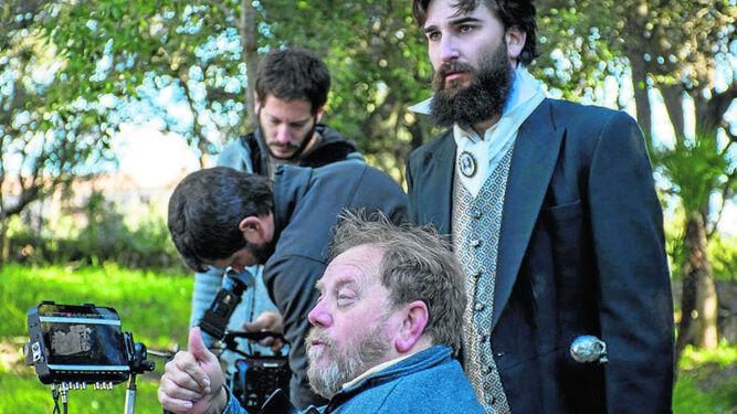 Un momento del rodaje de los 'teasers' de 'La muerte de Ítaca', el próximo proyecto del cineasta Juan Andrés Mateos.