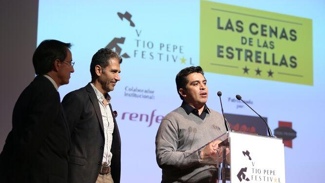 Mauricio González-Gordon, Antonio Pulido, Mamen Sánchez y Francisco Javier Fernández ayer en la presentación.