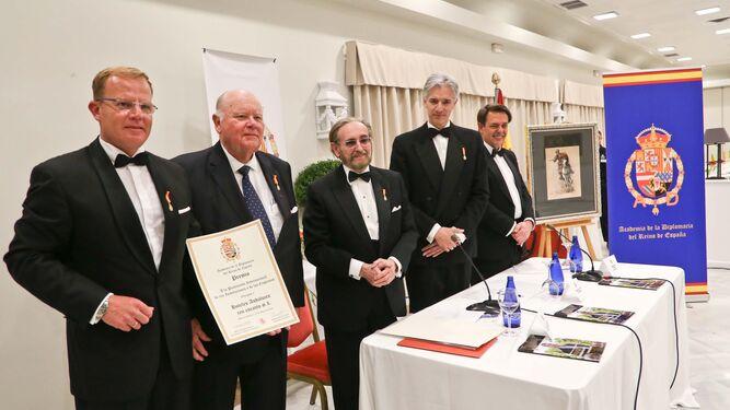 Stefan de Clerck, su padre, Jan, José Carlos Ruiz-Berdejo, Santiago Velo y Augusto Ferrer-Dalmau.
